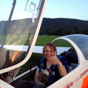 Erster Soloflug für Waltraud