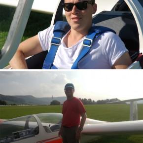 Oliver und Jean-Marc: Flugprüfung bestanden!
