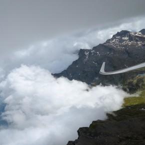 Tiefe Wolken beim Monviso