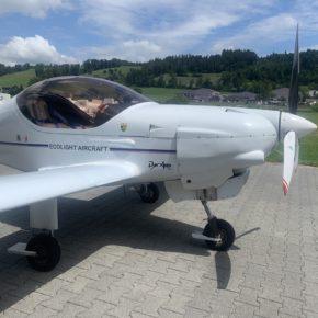 Testflüge ECO-Light Schleppflugzeug MCR01 MCRM Luzern-Beromünster