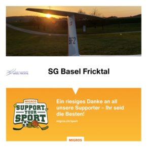 «Support your Sport» – ein sportliches Dankeschön!
