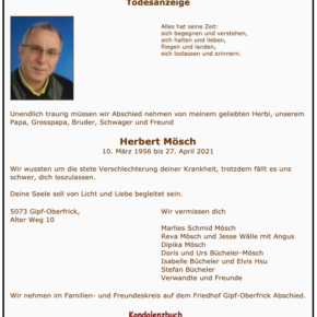 Todesfall Herbert Mösch